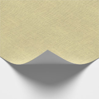 Butter Yellow Burlap Texture Wrapping Paper