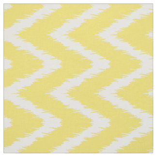 Butter Yellow Southern Cottage Chevrons Fabric
