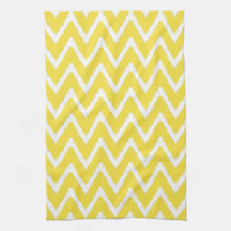 Butter Yellow Southern Cottage Chevrons Tea Towel