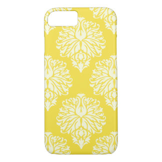 Butter Yellow Southern Cottage Damask iPhone 8/7 Case