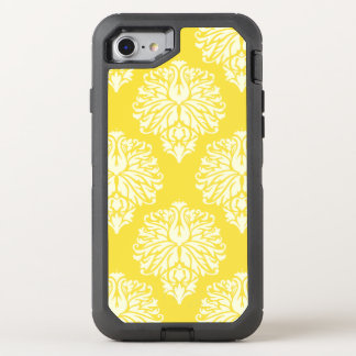Butter Yellow Southern Cottage Damask OtterBox Defender iPhone 8/7 Case
