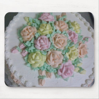 Buttercream icing roses mouse pad