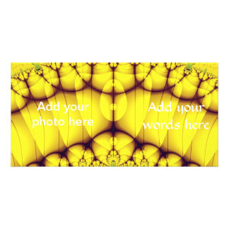 Buttercream Sunrise Over The Meadow Fractal Photo Greeting Card