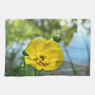 Buttercup at the Pond Tea Towel