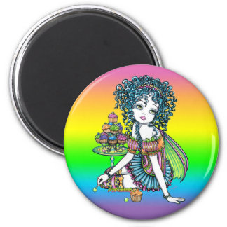 """""""Buttercup"""" Cup Cake Couture Fairy Art Magnet"""