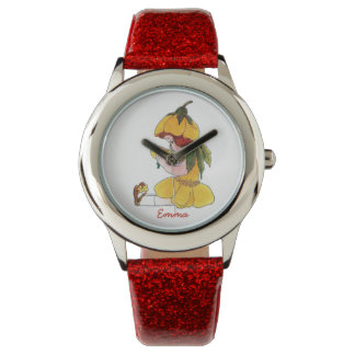 Buttercup Cute Flower Child Floral Little Girl Watch