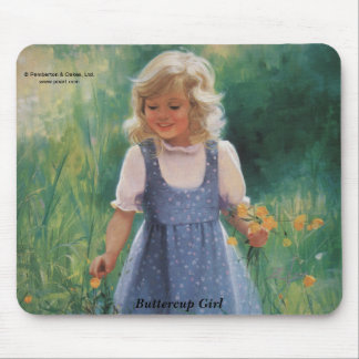 Buttercup Girl Mouse Pad