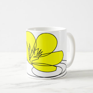 Buttercup Rain Sketch from our Garden Coffee Mug