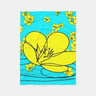 Buttercup Rain Sketch from our Garden Fleece Blanket
