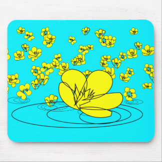 Buttercup Rain Sketch from our Garden Mouse Pad