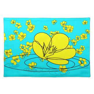 Buttercup Rain Sketch from our Garden Placemat