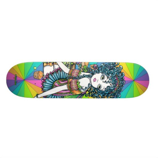 """""""Buttercup"""" Rainbow Cup Cake Fairy Skateboard"""