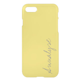 Buttercup Sunny Bright Yellow Solid Color Custom iPhone 7 Case