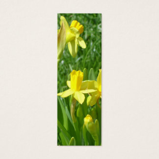 Buttercup Yellow Daffodils Bookmark Mini Business Card