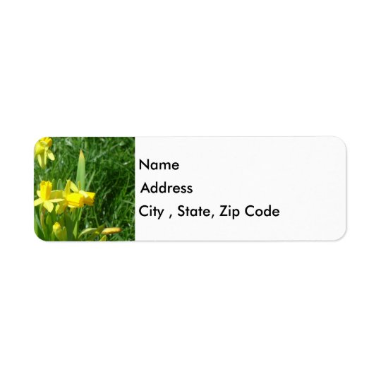 Buttercup Yellow Daffodils Return Address Label