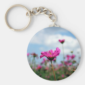 Buttercups Basic Round Button Key Ring