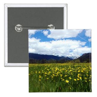 Buttercups Near Mount Lassen Northern California Pin