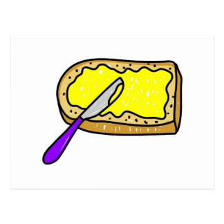 buttered-bread postcard