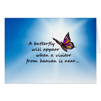 Butterefly, Visitor from Heaven Card