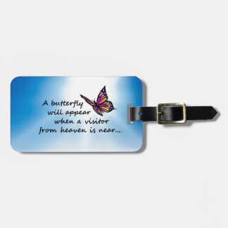 Butterefly, Visitor from Heaven Luggage Tag