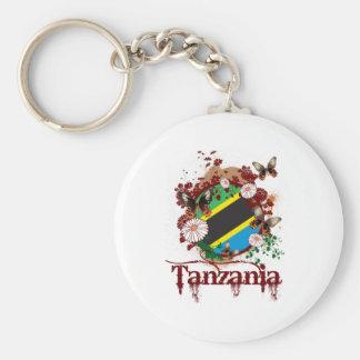 Butterffy Tanzania Basic Round Button Key Ring