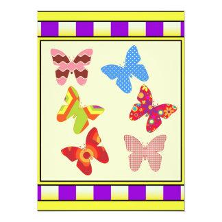 Butterflies 14 Cm X 19 Cm Invitation Card