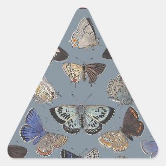 Butterflies, 1842 triangle stickers