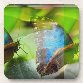 Butterflies Abstract Beverage Coaster