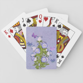 Butterflies and Bell Flowers Playing Cards
