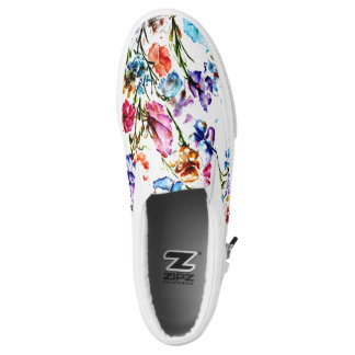 BUTTERFLIES AND BLOOMS SLIP ON SHOES