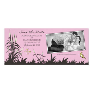 Butterflies and Cattails Save the Date (baby pink) Custom Invite