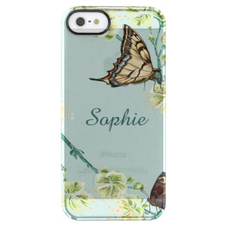 Butterflies and Cherry Blossoms Personalised Clear iPhone SE/5/5s Case