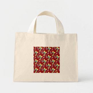 Butterflies and Colorful Insects on Red Tiny Tote