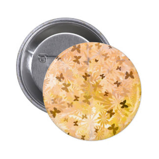 Butterflies and Daisies 6 Cm Round Badge