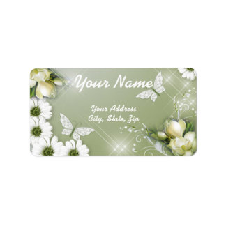Butterflies and Daisies Label