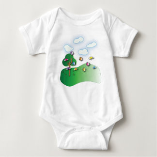 Butterflies and Dragonflies fleece Baby Onsie Baby Bodysuit