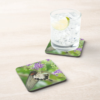 Butterflies and Flowers Cork Coasters