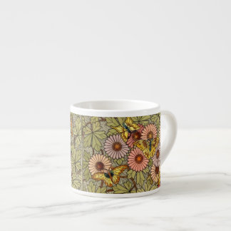 Butterflies and Flowers Espresso Cup