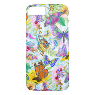 Butterflies and Flowers iPhone 8/7 Case