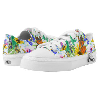 Butterflies and Flowers Low Tops