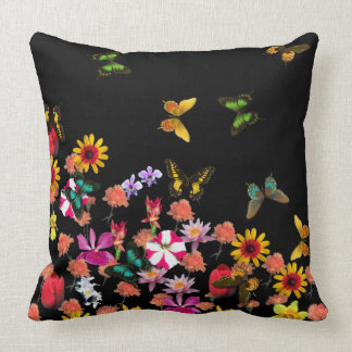 Butterflies and Flowers Luxury Cushion Pillow