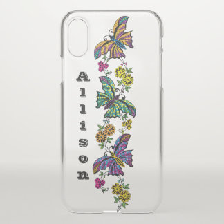 Butterflies And Flowers Personalized iPhone X Case