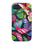 Butterflies and Peacock iPhone 4/4S Case