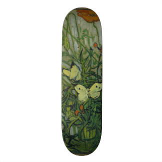 Butterflies and Poppies by Vincent Van Gogh Skateboard Decks