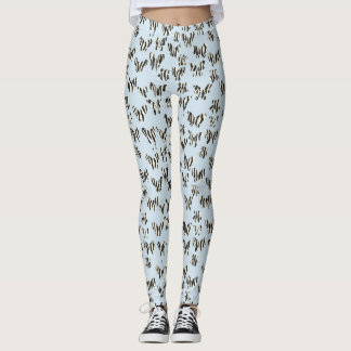 Butterflies and prints leggings