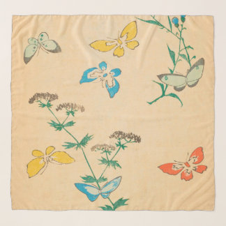 Butterflies and Queen Anne's Lace Scarf