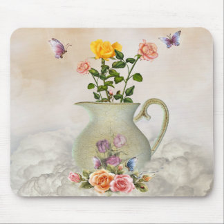 Butterflies and Roses Mouse Pad