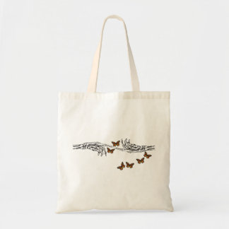 Butterflies and Skeletons Budget Tote Bag