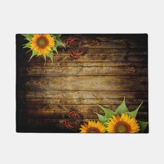 Butterflies and Sunflowers Doormat