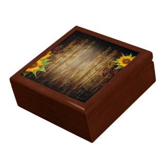 Butterflies and Sunflowers Trinket Box